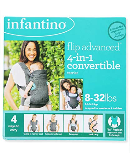 Infantino Flip Advanced 4-in-1 Convertible Carrier – gray, one size