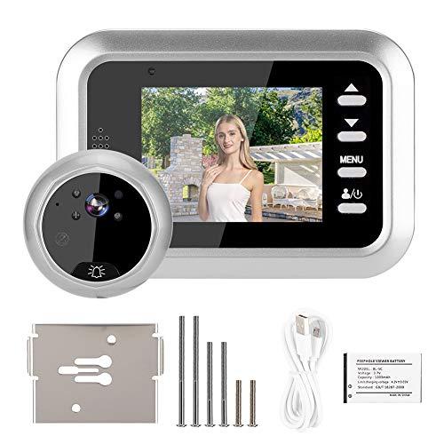 Timbre con Video, Timbre con Video con cámara Gran Angular de 115 °, cámara con Timbre Inteligente, Grado de protección IP55 para el hogar Apartamento más Seguro y Duradero
