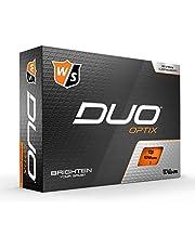 Wilson Staff Duo Optix Bolas de Golf, Mate, fácil de Encontrar, Unisexo-Adulto