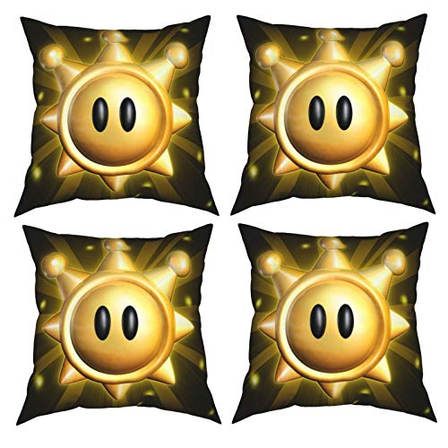 Shells Shining Pillow Covers 18x18 Inch Set of 4 Throw Pillow Covers for Fall Thanksgiving Holiday Decorative Pillows for Sofa Bedroom Car Couch 20'X20' Black