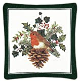 Alice's Cottage Holiday Mug Mat Coasters - Set of 4 (English Robin)