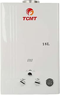 TC-Home 4.8 GPM Propane Gas LPG Instant Tankless Hot Water Heater Boiler House Bath (Propane Gas-18L)
