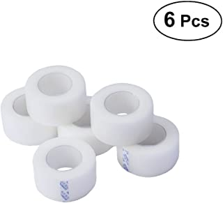 Healifty Sensitive Tape 6 Rolls Medical Tape Pressure Sensitive Skin Tape Clear Surgical Tape PE Microporous First Aid Tape