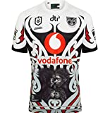 CRBsports New Zealand Warriors, Rugby Jersey, Home Edition 2020, New Fabric Broded, Swag Sportswear (Blanc, XL)