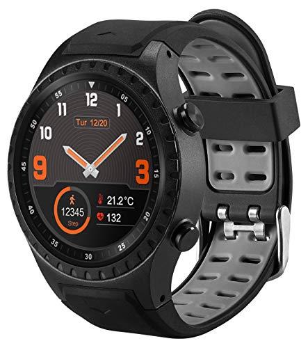 acme Smartwatch SW302 | Fitness Armbanduhr | Fitness Tracker | Armband | Sportuhr | Smart Watch mit GPS, Bluetooth, IPS, 1,30 Zoll, Pulsuhren, Schrittzähler, Schlafmonitor, IP65 Wasserdicht