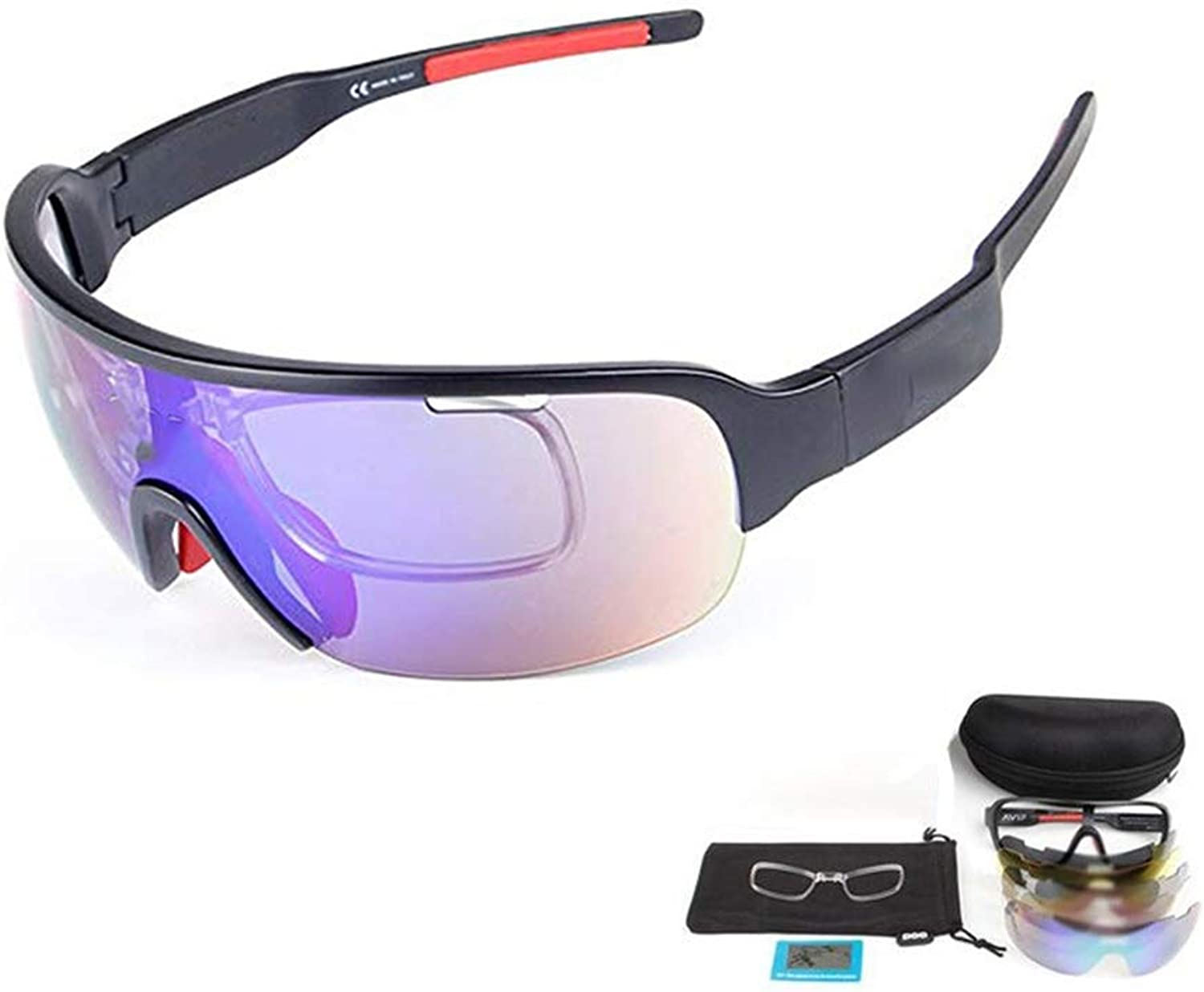 UV400 Predection Sports Sunglasses Polarized Light Outdoor 5 Tablets Running Glasses Cycling Goggles Replaceable Lens