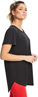 Rockwear Activewear Women's Long Line High Low Tee Black 14 from Size 4-18 for T-Shirt Tops
