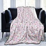Moily Fayshow Uovo di Pasqua Palloncino in Pile di Coniglio Coperta Coperta di Flanella Trapunta Biancheria da Letto Decor 50 'X40'