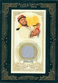 Brandon Phillips player worn jersey patch baseball card (Cincinnati Reds) 2012 Topps Allen & Ginters #AGRBP
