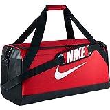 Nike NK Brsla M Duff Sac de Sport de Training (Taille Moyenne) Mixte Adulte, Rouge Université/Noir/Blanc, 71 x 28 x 33 cm, 62 l