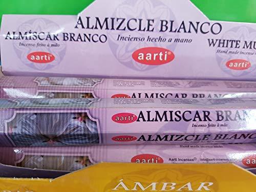 Qaromas Incienso aarti Almizcle Blanco/White Musk 6 x 20sticks