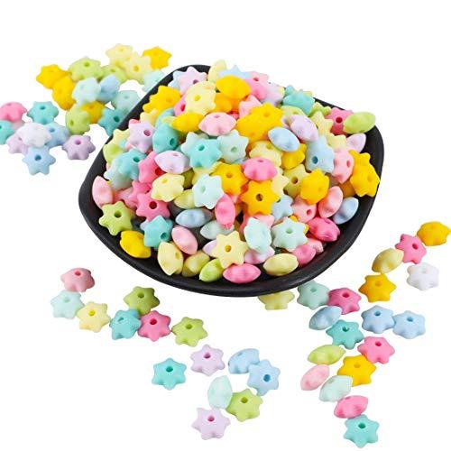 Mamimami Home 50PC bébé Teether Perles en silicone Hexagram Silicone Star Silicone Teether