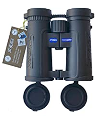 Minimum focus distance 3.92 ft. great for butterflies, dragonflies and close insects Multi stage rotating retractable eyecups greatly facilitate eye positioning Phase multi coated roof prisms, extremely compact size for an 8 x 5 binocular Nitrogen fi...
