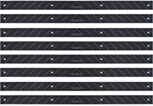 """Grip Strip Black Treads, Screw Down Strip No Adhesive All Weather Deep Valley Abrasive Traction - Increase Safety in Your Home or Outdoor Settings, L 32"""" x W 2"""", 1/8 Thickness (8 Pack, Black)"""