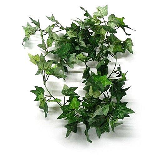 HugeStore 180cm Efeu Girlande Efeubusch Efeugirlande Efeuranke künstliche Kunstpflanze 3 Stück