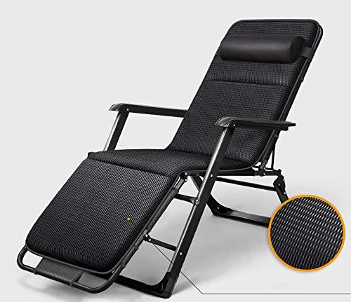 HOLITU Plegable Gravedad Cero Tumbona,Ligeros Ajustable Exterior Inclinable sillas de Playa con Almohadilla de algodón Transpirable Silla de Camping,D