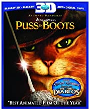 Puss in Boots (Three-Disc Combo: Blu-ray 3D/Blu-ray/DVD/Digital Copy) by DreamWorks Animated