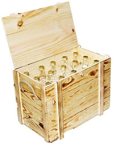 Kistenkolli Altes Land Weinkiste 12er geflammt inkl. Holzwolle/Holzkiste/Geschenkbox/Aufbewahrungsbox/Überraschungskiste/Weinbox/Hochzeitskiste (12er Weinbox) - 3