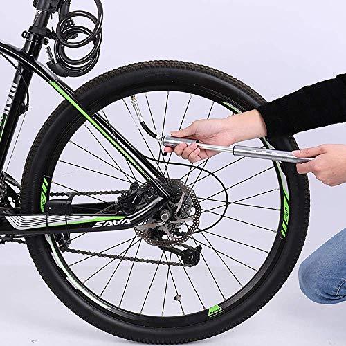 Tragbare Mini-Fahrradpumpe für Presta und Schrader Ventile, 130 PSI Fahrradreifenpumpe für Straßen, Mountain und BMX Fahrräder, Aluminiumlegierung - 4