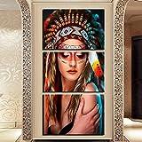 DCLZYF Estilo nórdico Abstracto artístico Impreso Lienzo Pared Arte Cartel Imagen Pintura decoración del hogar-50x70cmx3 (sin Marco)