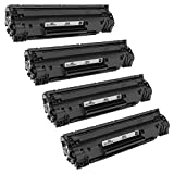 Speedy Inks Compatible Toner Cartridge Replacement for HP 36A (Black, 3-Pack)