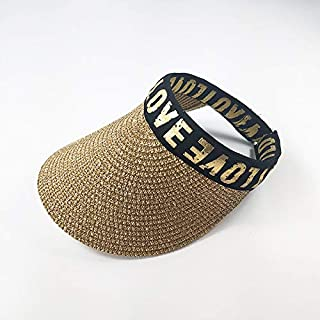 Asdfnfa Sun Hat, Child Straw Hat, Summer Sun Protection, Empty Top Hat (Color : Gold)