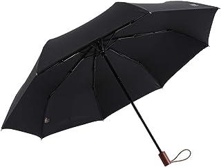 AINIYF Tri-fold Sunny Rain Umbrella Manual Windproof Folding Umbrella Aluminum Alloy Shade Umbrella Sun Protection UV Protection (Color : Black)