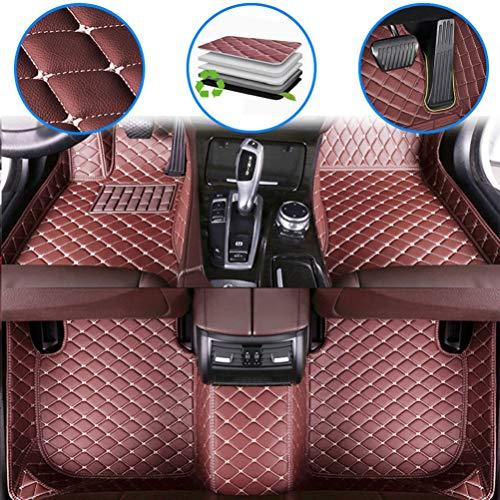 maiqiken Alfombrillas de coche personalizadas para Toyota Tundra 2000-2006, 2007-2013, 2014-2019 cuero de lujo impermeable antideslizante cobertura completa cojín delantero y trasero (color café)