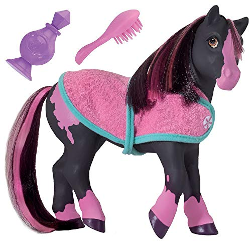 Breyer Horses Color Changing Bath Toy | Jasmine the Horse | Black / Pink with Surprise White Color | 7″ x 7.5″ | Horse Toy | Ages 2+ | Model #7105