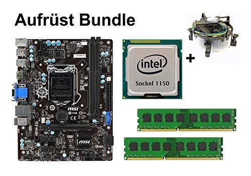 Aufrüst Bundle - MSI H81M-E34 + Intel i5-4670K + 16GB RAM #94692