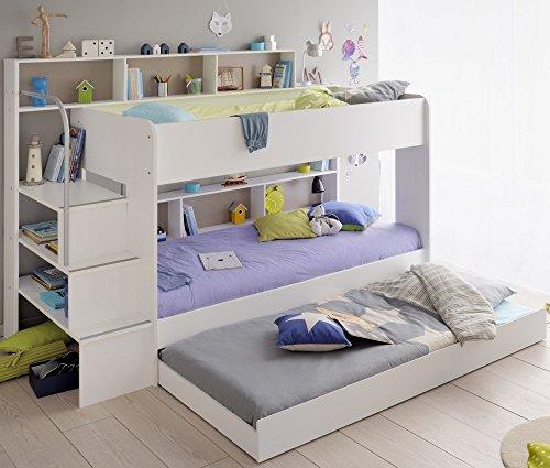 Etagenbett mit Bettschubkasten Bibop 21 Parisot