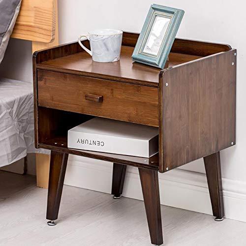 BZZBZZ Nachttisch mit 1 Schublade und Regal, einfachem Doppelschicht-Beistelltisch, rutschfest verstellbar 18,31 * 14,96 * 20,87 Zoll