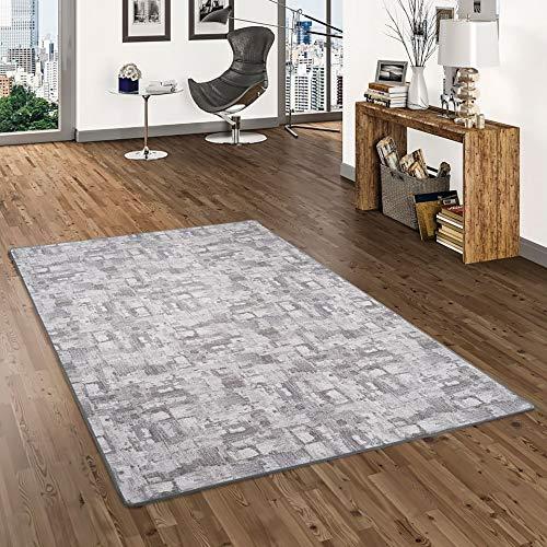 Snapstyle Designerteppich Hellgrau Trend in 24 Größen