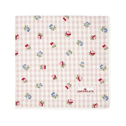 GreenGate - Tischdecke - Viola - Pale pink - Baumwolle - 100x100cm