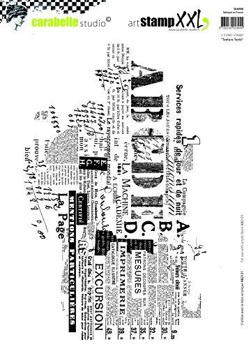 Carabelle Studio Cling Stempel XXL-Text, Rubber, White transparent, 19 x 27.5 x 0.5 cm