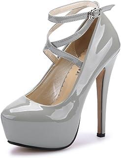 210e2b2c0c Amazon.co.uk: Silver - Court Shoes / Women's Shoes: Shoes & Bags