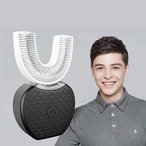 Cepillo de dientes eléctrico tipo U de frecuencia variable y totalmente automático, dientes ultrasónicos de luz fría tipo U de 360 ° para blanquear el cepillo de dientes Limpiador de boca (neg