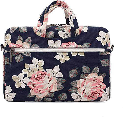 Practical Women White Rose Notebook Laptop Bag13 Inch 15 Inch 15.6 Inch Bag And For Macbook Pro (Color : Blue, Size : 13 13.3inch)