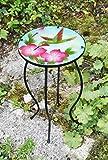 Iron/Glass <span class='highlight'>Round</span> <span class='highlight'>Mosaic</span> Design <span class='highlight'>Side</span> <span class='highlight'>Table</span> Garden Outdoor Patio Flower <span class='highlight'>Plant</span> Stand (Colibri)