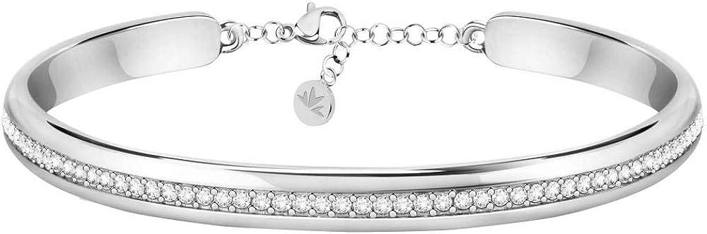 Morellato, bangle,bracciale per donna,in acciaio_inossidabile e cristalli SAKM72