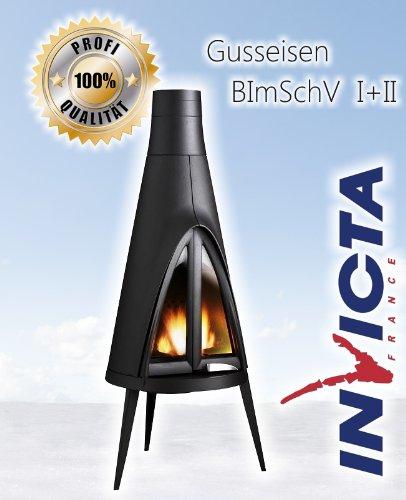 Diseño de hierro fundido estufa de leña INVICTA POW-WOW -