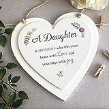 Genie Wholesale Daughter - Placa de madera colgante con corazón para hija, regalo pensativo para hija, una hija, es alguien que llena tu corazón con amor y tus días con alegría
