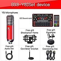ライブストリームサウンドカードセット機器録音音声交換携帯電話コンピューターの普遍的なマイクカラオケアクセサリー (Color : G3 WITH Y8 S)