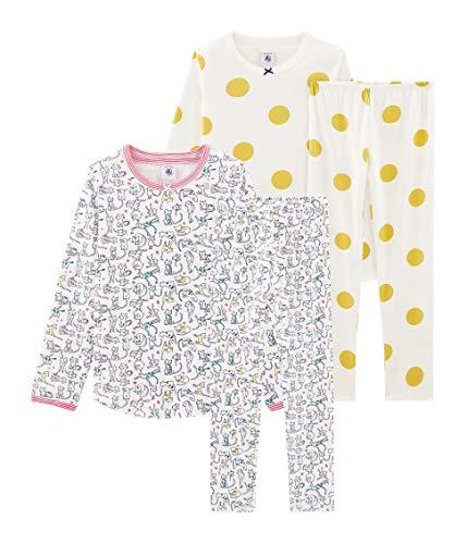 Petit Bateau Mädchen Pyjama_5199200 Zweiteiliger Schlafanzug, Mehrfarbig (Variante 1 00), 92 (Herstellergröße: 2ans/86cm) (2er Pack)
