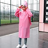 Fitchhal Hot Sale 1pc Kids Boys/Girls PVC Hooded Long Section Raincoat Children Safety Raincoat -