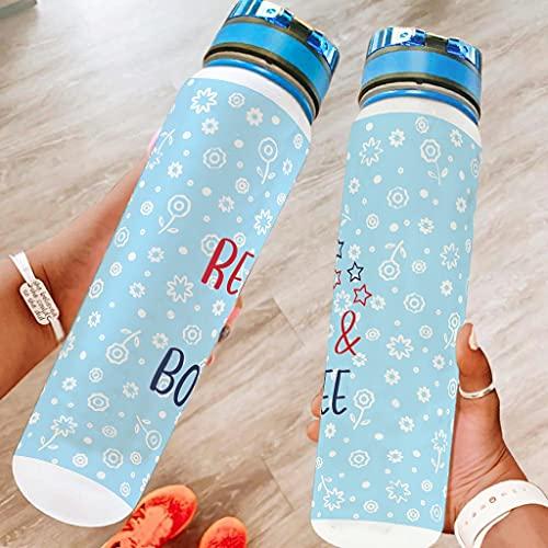 wbinshey Red And Boujee - Botella de agua deportiva de 32 onzas para lavavajillas, seguro para acampar, botella de deporte de senderismo, mejor regalo para amado blanco 1000 ml