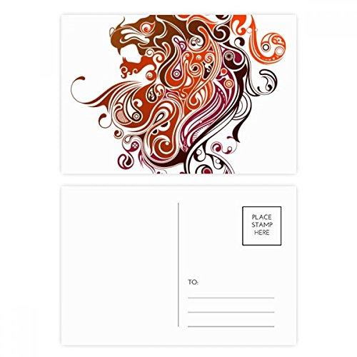 DIYthinker Kleurrijke Draak Dier Kunst Silhouette Postkaart Set Verjaardag Thanks Card Mailing Side 20 stks 5.7 inch x 3.8 inch Multi kleuren
