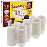 Disposable Filters Compatible with Keurig Brewers- 600 Single Serve Replacement Filters Compatible with Regular and Reusable K Cups- Use Your Own Coffee