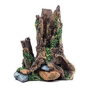 MYB Supplies Fish Tank Decorations Simulation Tree Dead Wood Ornament, Mini Aquarium Decoration Hiding Cave Accessories, 20x18x13.5cm