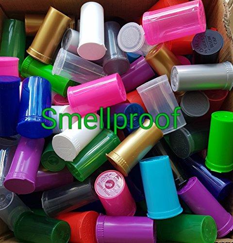 50 x 13dram geurbestendige 1-2g Pop Top medische containers GRATIS STICKER LABELS